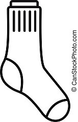 Child sock icon outline vector. Fashion sock