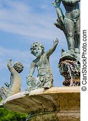Child Statue on Fountain