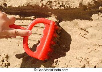 Child summer beach concept