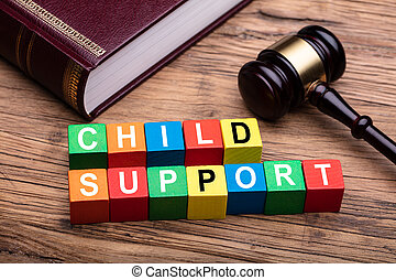 Child Support Block With Bible And Mallet