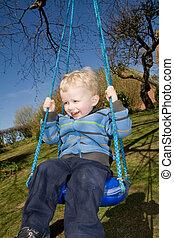 child swing garden