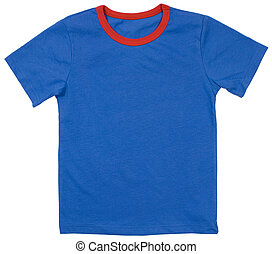Child t-shirt isolated on a white