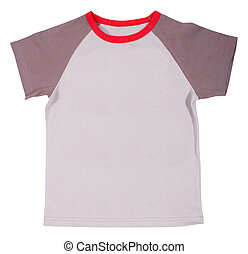 Child t-shirt isolated on white background. - Child t-shirt...