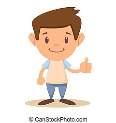 Child thumbs up,