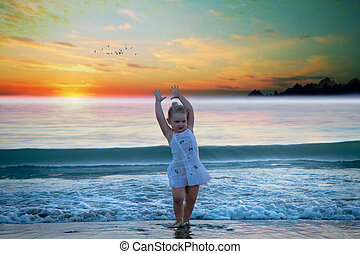 child to the sea