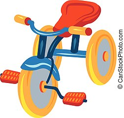 Child tricycle icon, cartoon style - Child tricycle icon....