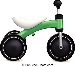 Child tricycle icon, realistic style - Child tricycle icon....