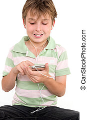 Child using a digital player