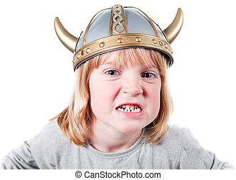 Child viking angry