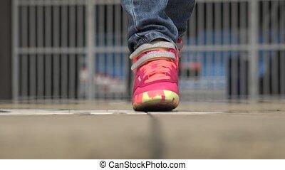 Child Walking to Camera