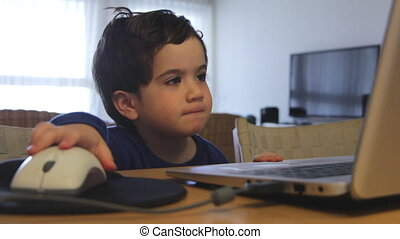 child watching content on the web with no parent control -...