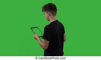 Child watching videos on tablet, switch off