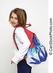 child whit schoolbag