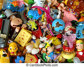 lot of the little toys and other child widgets