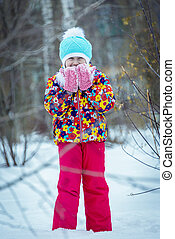 child winter in the Park