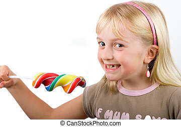 Child with a candy lollipop