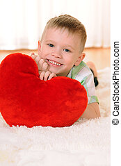 child with a heart