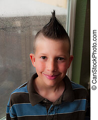 Child with a mohawk