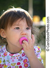 Child with a pacifier