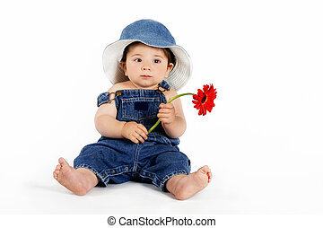 Child with a Red Daisy