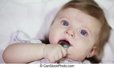 Child with a spoon