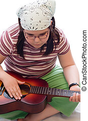 Child With Acoustic Guitar