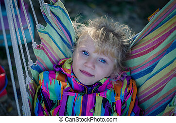 child with beautiful blue eyes portrait