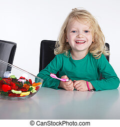 Child with brushing