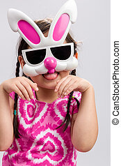 Child with Bunny Mask