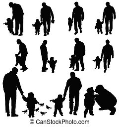 child with father illustration