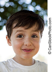 child with fun expression