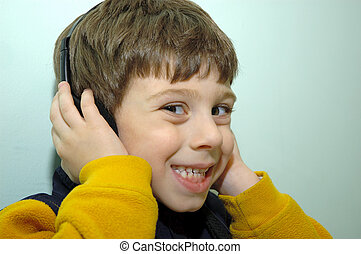 Child With Headphone