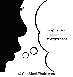 child with inspiration silhouette illustration