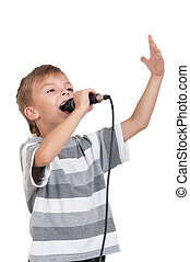 Child with microphone