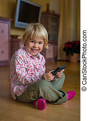 child with mobile phone