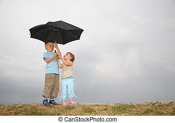 child with the umbrella