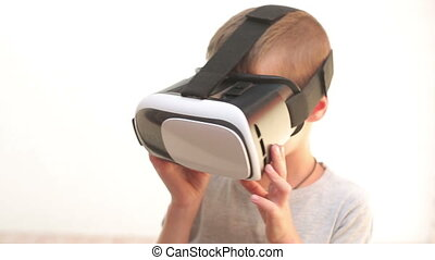 Child with VR Headset watching