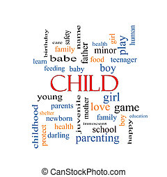 Child Word Cloud Concept
