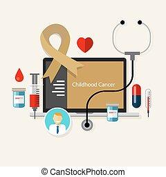 childhood cancer children medical gold ribbon treatment health disease