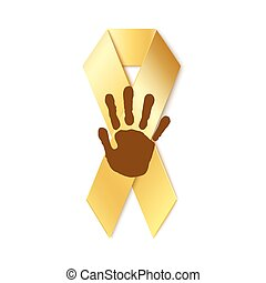 Childhood cancer golden ribbon.