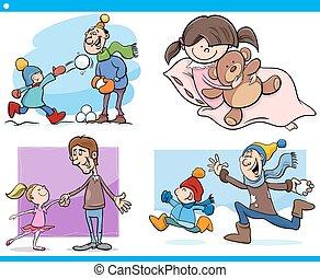 childhood cartoon set