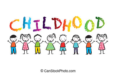 childhood design over white background vector illustration