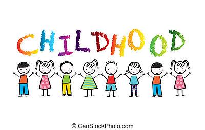 childhood design over white background vector illustration