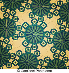new vintage style background with abstract flowers can use like pattern