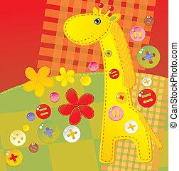 childish applique - giraffe