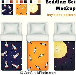 Childish Boy Domestics Set - Childish boy bedding set of...