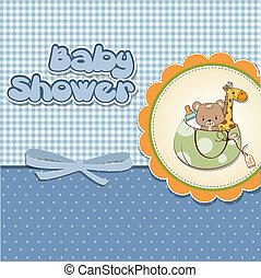 childish cartoon greeting card
