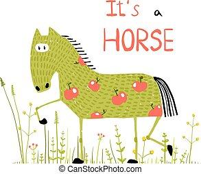 Funny animal illustration for children. Vector EPS10.