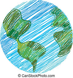 Earth doodle - Childish Earth doodle
