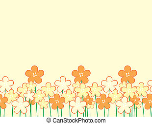 childish flowers - background with childlike flowers and...